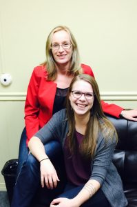 Behind- Sue Hess - Intensive Case Manager Infront- Sarah Good - Administrative Assistant